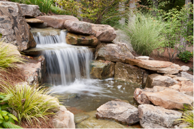 Stone Waterfall Hardscaping