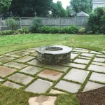 FULL COLOR BLUESTONE WITH GRASS JOINTING